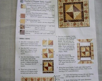 Table Square Quilt Kit