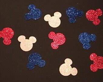 225 Mickey Mouse Confetti Glitter Confetti Mickey Mouse Mouse Birthday Confetti Mickey Mouse Baby Shower Confetti Red White Blue Mickey