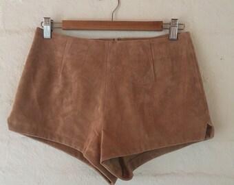 Suede hot pants
