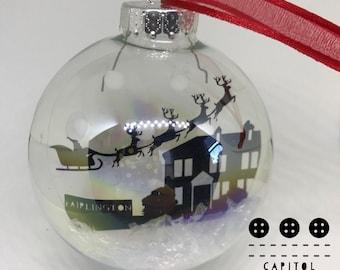 Fairlington, Virginia Christmas Ornament - Santa- skyline