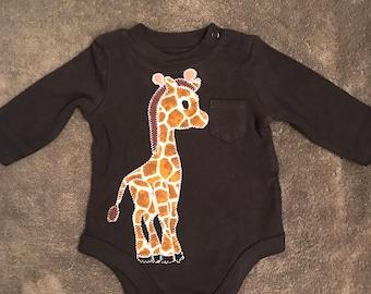 Giraffe Applique Onesie