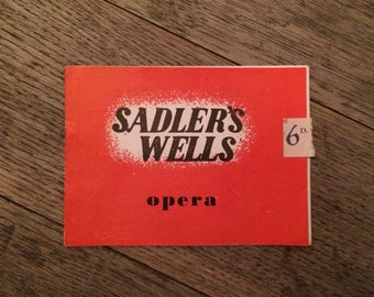 Sadlers Wells Theatre - Opera - The bartered bride 1948 - London Theatre