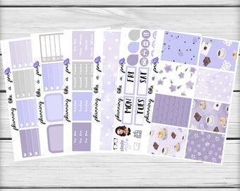 Breakfast In Bed Planner Sticker Kit // Fits Erin Condren Vertical Life Planner, Happy Planner, etc