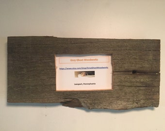 Reclaimed barnwood picture frame 4x6