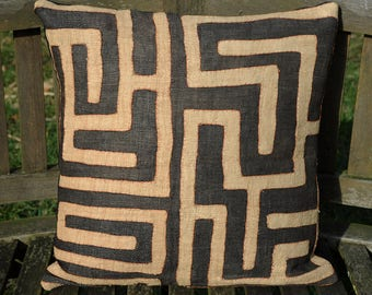 Kuba Cloth Pillow Etsy
