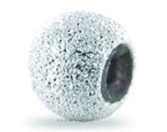 Bead 10* 2.5mm sand diamond facet silver 925 1.53 g