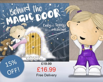 Personalised Children's Book, Behind the Magic Door, Ideal Gift, Baby Gift, Keepsake, with Free Shipping & 15% off! SAME DAY PROCESSING