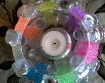 multi-color votive candle holder