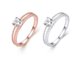 Gold Plated Elegant Cut Rings | 2 Colors