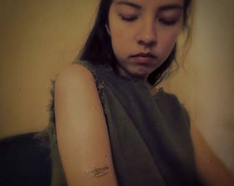 Temporary Tattoo | 'handmade' We are all handmade with love.