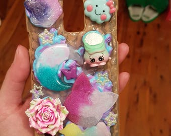 Kawaii Decoden Wood Printed Samsung Galaxy  S5 case