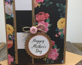 Happy Mother's Day Card, Floral Mother's Day Card, Mother's Day Card, Modern Rustic Mother's Day Card, For Mom, Mother's Day, Mother's Day