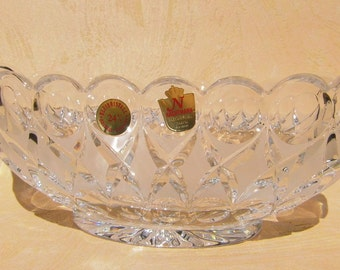 Glass bowl vintage oval Bowl Wohndeko glass bowl table decoration decorations