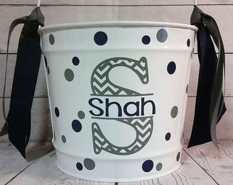 Personalized Bucket - 10 Quart /Gift Basket/ Easter Basket