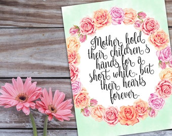 Mother's Day Gift Printable,Mothers day art,Gifts for mom,Mothers day printable,Mother Day Quote