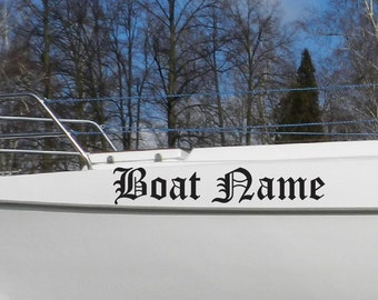 Custom Boat Name Sticker, Vessel name Decals, Boat Lettering Sticker, Jet Ski DECAL, Fishing, Boating, Speed Pontoon decal, yacht name decal