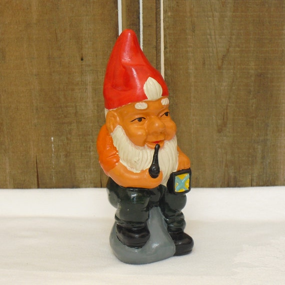 Items similar to vintage ceramic christmas gnome elf figurine holiday decor mantel decoration for Gnome 3 decoration fenetre
