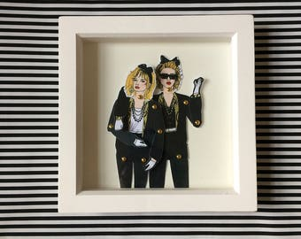 Madonna print, framed Madonna doll, perfect present for desperately seeking susan fans. All frames come wrapped ready for gifting.