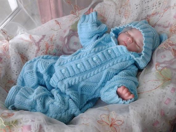 Baby Knitwear Knitted Baby Romper Set Baby Pram Suit Wool