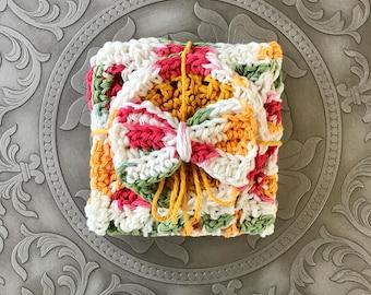 Bath Gift Set, Bath Set, Dishcloth Set, Washcloth Set, Crochet Dishcloths, Crochet Washcloths, House Warming Gift, Large Dishcloth