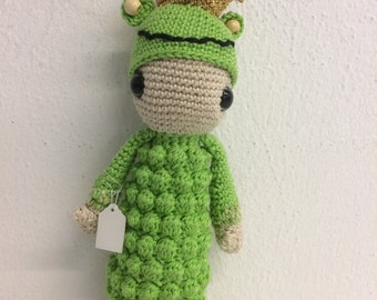 Crochet doll Lalylala frog King