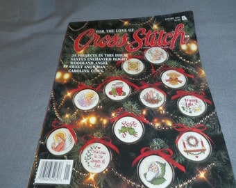 Counted Cross Stitch Patterns, For the Love of Cross Stitch January 1993 Christmas Holiday Decor