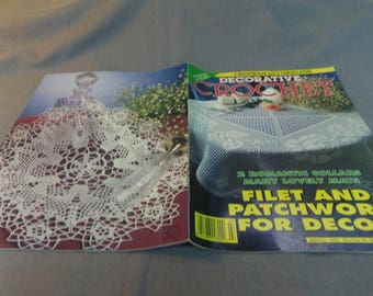 Decorative Crochet Magazine No 44, Mar. 1995, Doilies, Tablecloth, Bedspreads, Wall Hangings