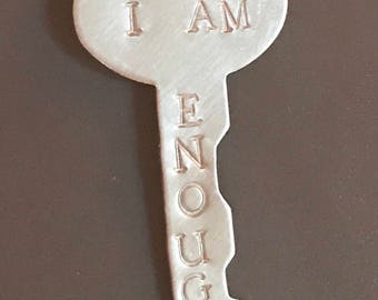 I Am Enough Charm in Silver