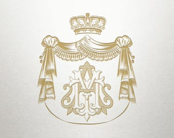 Royal Crest Design  - Buckingham Crest -  Royal Crest - Digital