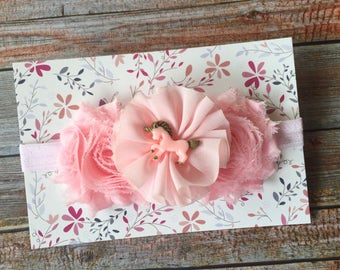 Unicorn Headband/Unicorn Baby Headband/Baby Headband/Newborn Headband/Light Pink Headband/Pink Baby Headband/Toddler Headband/Girls Headband