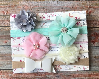 Baby Girl Headband Set, Baby Headband Set, Baby Headbands, Baby Girl Headbands, Newborn Headbands, Infant Headbands, Baby Shower Gift, Baby