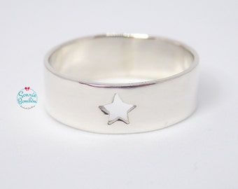 Star Ring | Sterling silver Star Ring | Band Ring Star | Love Silver Star Ring | Silver Star Ring | Star band Ring | Star ring
