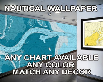 Nautical Chart Wallpaper - Nautical Wallpaper