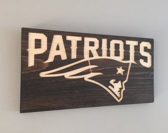 Patriots Wooden Engraved Sign