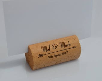 Personalized Wine Cork Place Card Holders Model 6