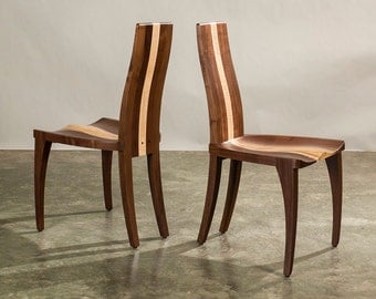 dining chairs modern solid wood handmade walnut carved seat dining room - All Wood Dining Room Table