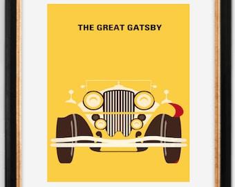 Great Gatsby-Movie Poster-Minimalist-Digital Print