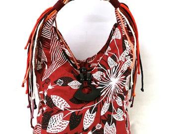 Florence Bag Linen - Water Lily Design by Eva Nganjmirra