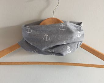 Infinity scarf to baby - unisex - anchor boats