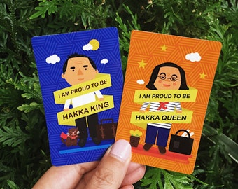 Hakka King & Queen MRT/Train/Bus Sticker Set