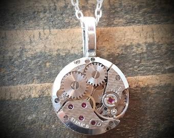Pendant - Vintage 17 Jewel Watch Movement