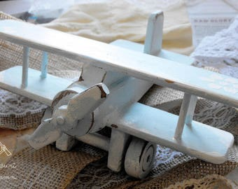 Wooden airplane - Shabby Chic handmade decoration