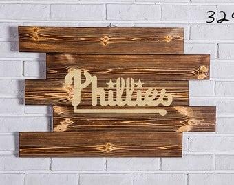 Philadelphia Phillies Wood Sign Philadelphia Phillies Wall art Philadelphia Phillies Gift Philadelphia Phillies Birthday Party wooden