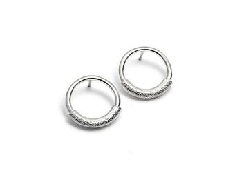 1tier Silver earrings