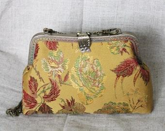 20cm Kiss lock purse, Purses & handbag, Cosmetic bag, clutch bag, Metal frame purse  K1619