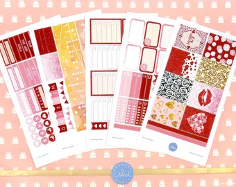 Valentine's Day Weekly Kit | February Weekly Kit | Planner Weekly Kit | Erin Condren Weekly Kit | Valentine's Day Planner Stickers