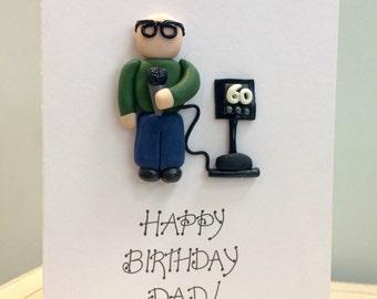 Karaoke birthday greetings card - 60th