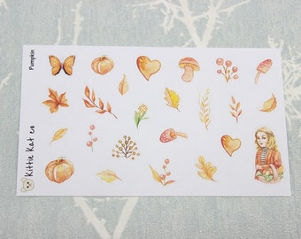Pumpkin Deco Stickers