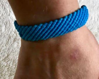 Light blue woven stack bracelet
