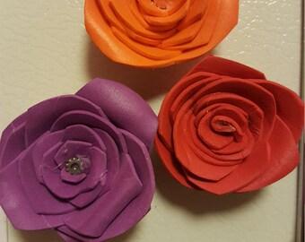 Set of 3 foam flower magnets